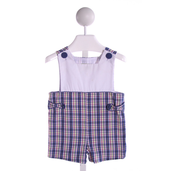 STELLYBELLY  MULTI-COLOR  PLAID  JOHN JOHN/ SHORTALL