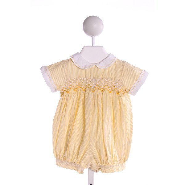 FANTAISIE KIDS  YELLOW  STRIPED SMOCKED JOHN JOHN/ SHORTALL