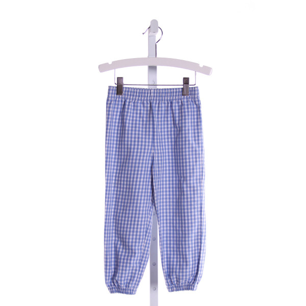KELLY'S KIDS  LT BLUE  GINGHAM  PANTS