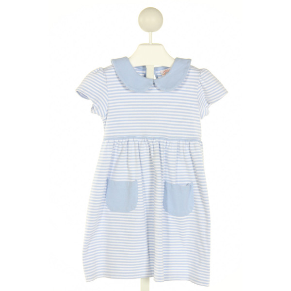 LUIGI  BLUE  STRIPED  KNIT DRESS