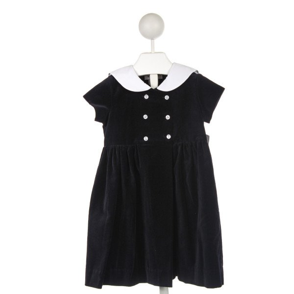 FRANCES JOHNSTON NAVY VELVET DRESS