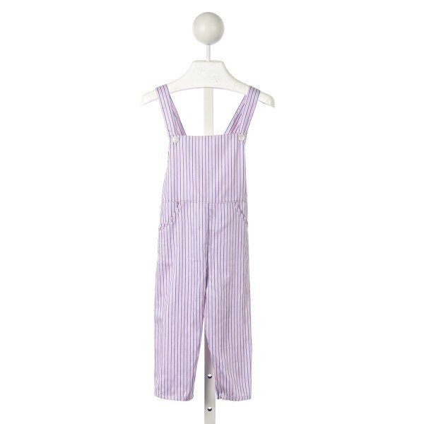 ELEPHANTITO PINK AND BLUE STRIPED OVERALL