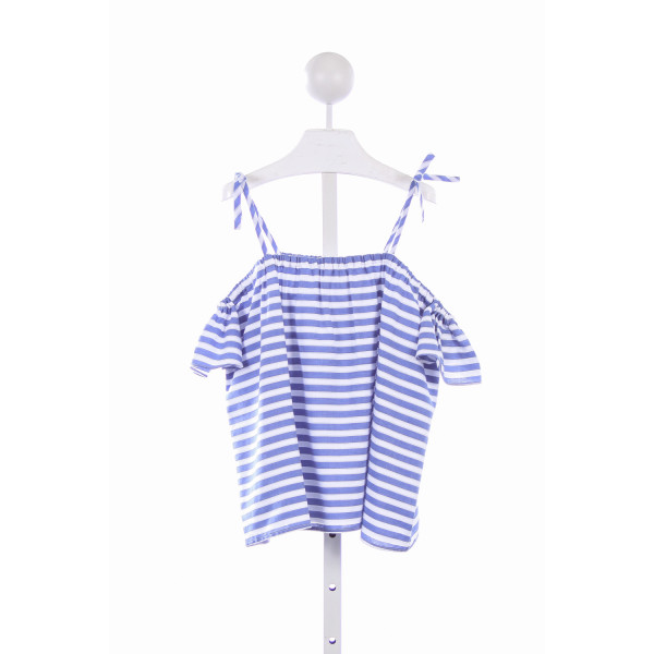 MILLY MINIS BLUE AND WHITE CHAMBRAY EDEN TOP