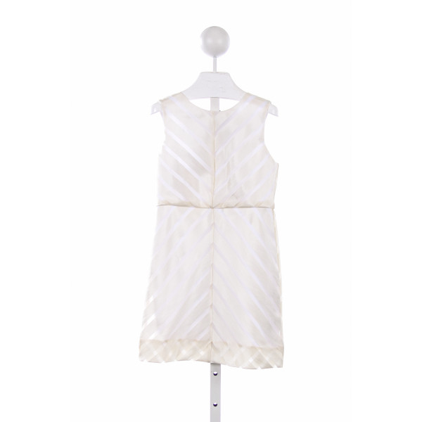 MILLY MINIS IVORY AND WHITE MITERED DRESS