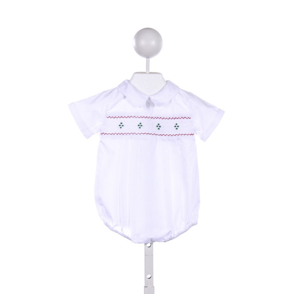 FELTMAN BROTHERS  WHITE   SMOCKED BUBBLE