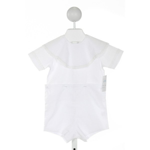 AURALUZ  IVORY    JOHN JOHN/ SHORTALL WITH LACE TRIM