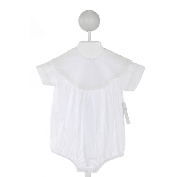 AURALUZ  IVORY    BUBBLE WITH LACE TRIM
