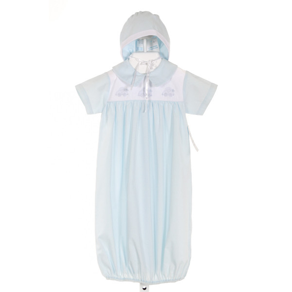 AURALUZ  LT BLUE   EMBROIDERED LAYETTE