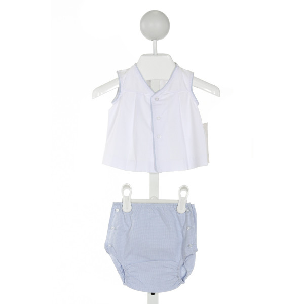 LULLABY SET  WHITE  MICROCHECK  2-PIECE OUTFIT