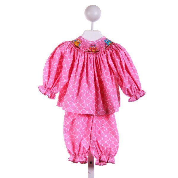 COLLECTION BEBE  PINK   SMOCKED 2-PIECE OUTFIT
