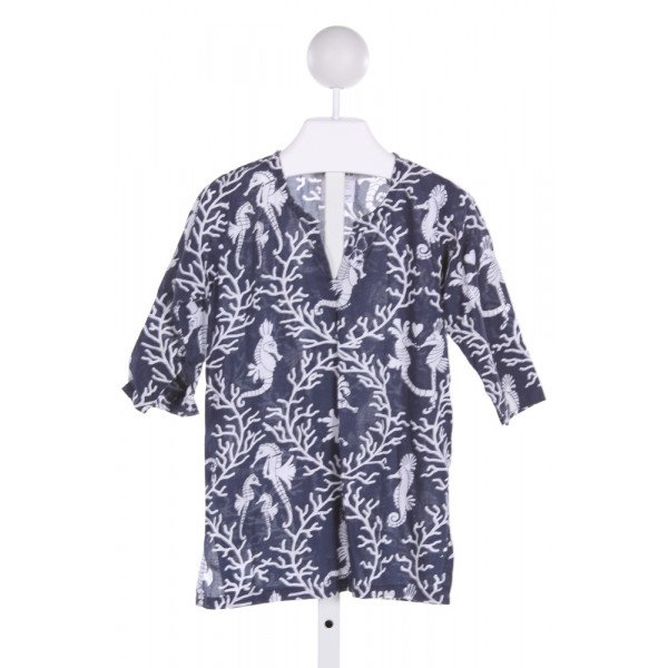 GRETCHEN SCOTT  NAVY   PRINTED DESIGN COVER UP