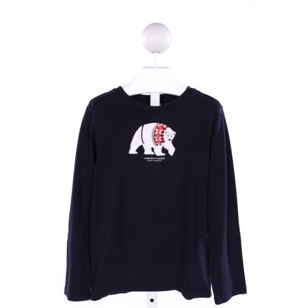 JANIE AND JACK  NAVY   EMBROIDERED KNIT LS SHIRT