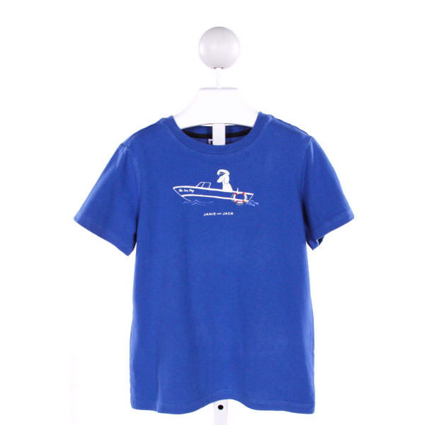 JANIE AND JACK  ROYAL BLUE   PRINTED DESIGN T-SHIRT