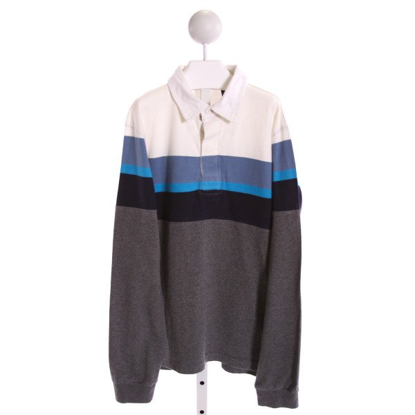 E-LAND  MULTI-COLOR  STRIPED  KNIT LS SHIRT