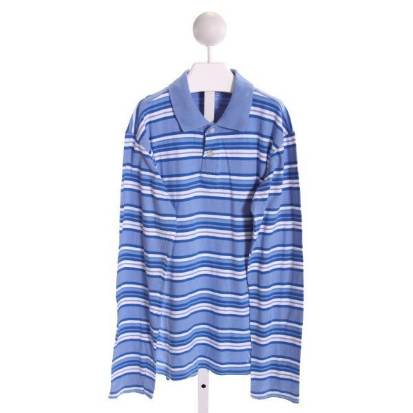 E-LAND  BLUE    KNIT LS SHIRT