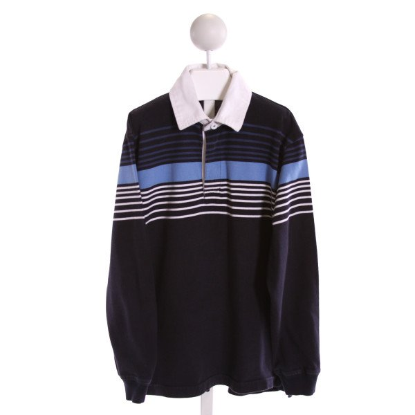 KITESTRINGS  BLUE  STRIPED  KNIT LS SHIRT