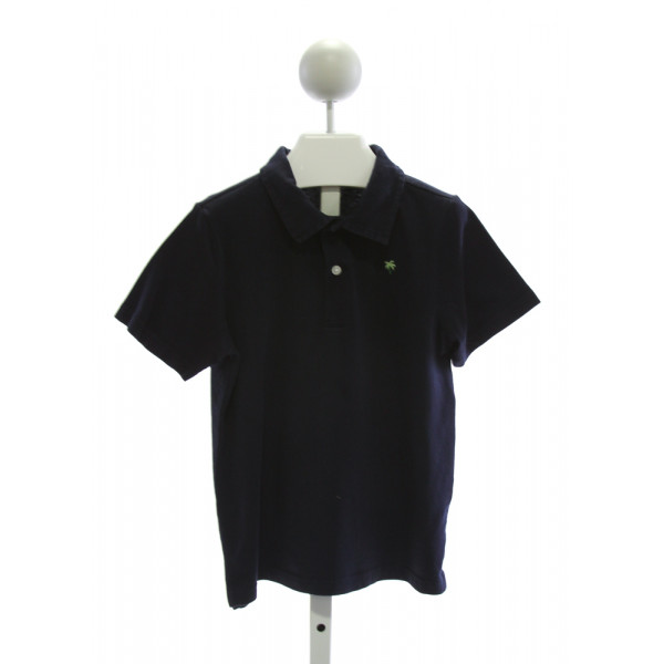 JANIE AND JACK  NAVY    KNIT SS SHIRT