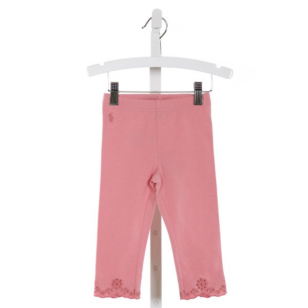 POLO BY RALPH LAUREN  LT PINK   EMBROIDERED PANTS