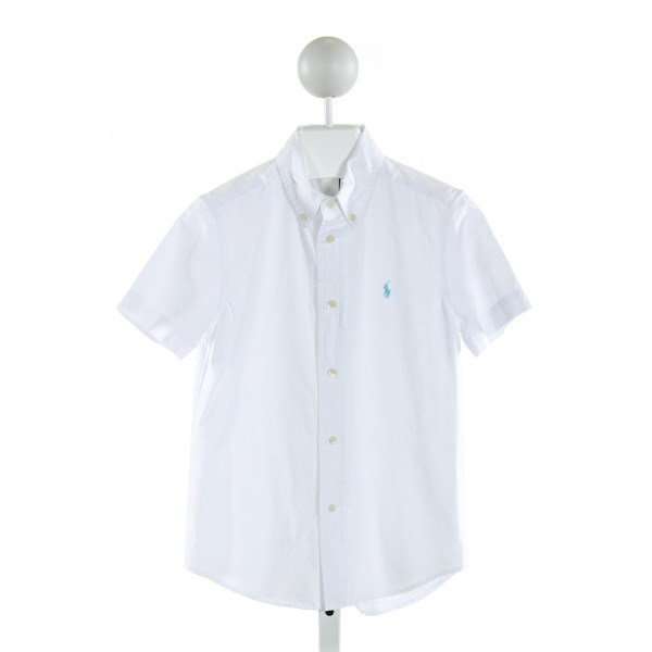 RALPH LAUREN  WHITE    CLOTH SS SHIRT