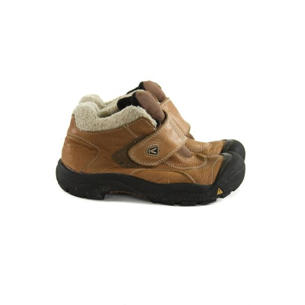 KEEN BROWN SHOES *SIZE CHILD 3, VGU - LIGHT WEAR AND DISCOLORATION