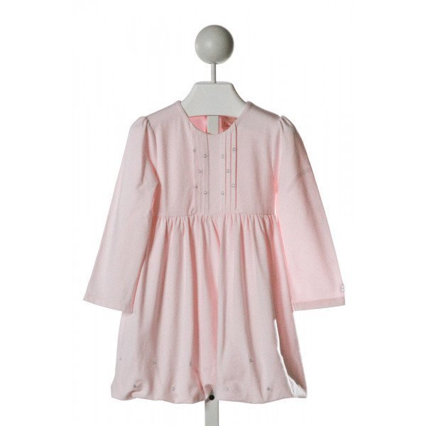 EMILE ET ROSE  LT PINK   EMBROIDERED KNIT DRESS