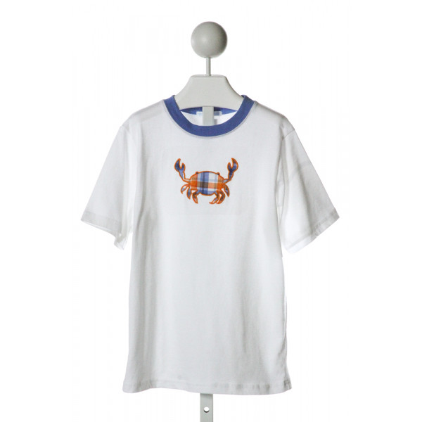 JANIE AND JACK  OFF-WHITE   EMBROIDERED T-SHIRT