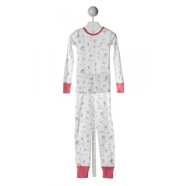 BABYCOTTONS  OFF-WHITE   PRINTED DESIGN LOUNGEWEAR WITH PICOT STITCHING