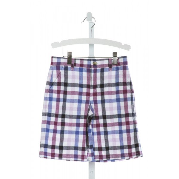 JANIE AND JACK  PURPLE  PLAID  SHORTS