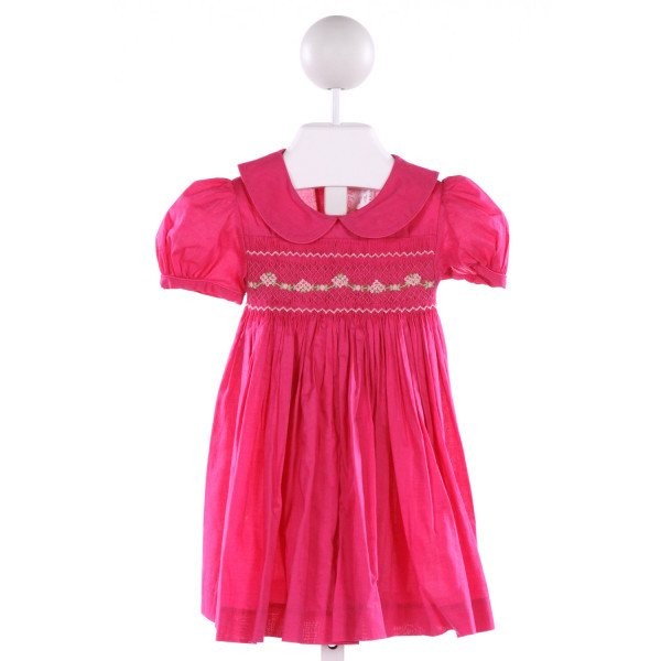 EMILY LACEY  HOT PINK   SMOCKED DRESS