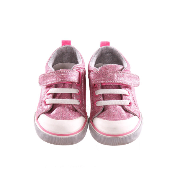 SEE KAI RUN PINK GLITTER SNEAKERS *SIZE 6, VGU - MINOR SCUFFING AND DISCOLORAITON