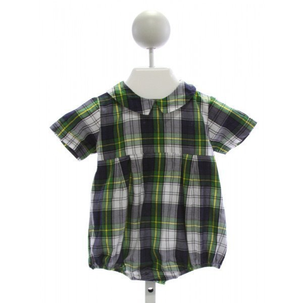 SOUTHERN SUNSHINE KIDS  GREEN  PLAID  BUBBLE