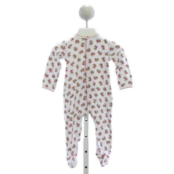 MAGNOLIA BABY  RED  POLKA DOT PRINTED DESIGN LAYETTE WITH PICOT STITCHING