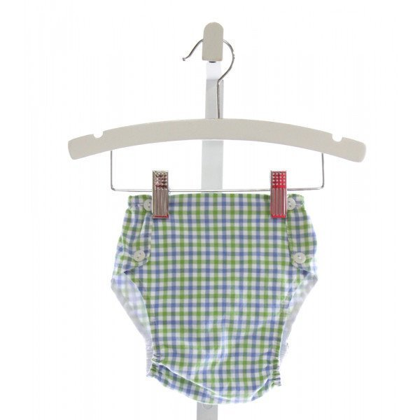 BELLA BLISS  LT BLUE  PLAID  BLOOMERS