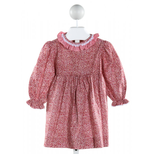 JAMES & LOTTIE  PINK  FLORAL  DRESS WITH RUFFLE