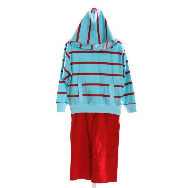 KELLY'S KIDS  MULTI-COLOR  STRIPED  2-PIECE OUTFIT