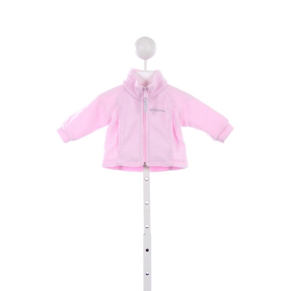 COLUMBIA LIGHT PINK FLEECE JACKET *SLIGHT IMPERFECTION (SOME WEAR ON ZIPPER)