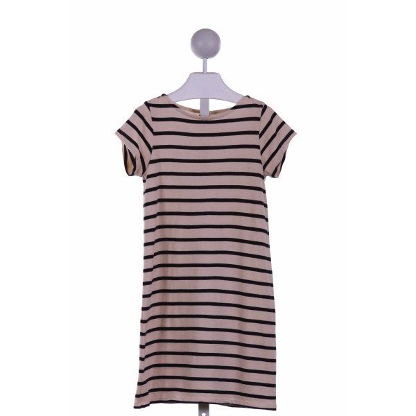 CREWCUTS FACTORY  CREAM  STRIPED  KNIT DRESS
