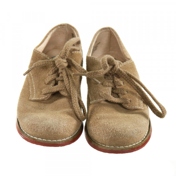FOOTMATES BROWN SHOES *SIZE TODDLER 7, GUC - WEAR AND SCUFFING