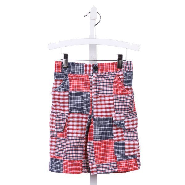 COTTON BLU  RED    SHORTS