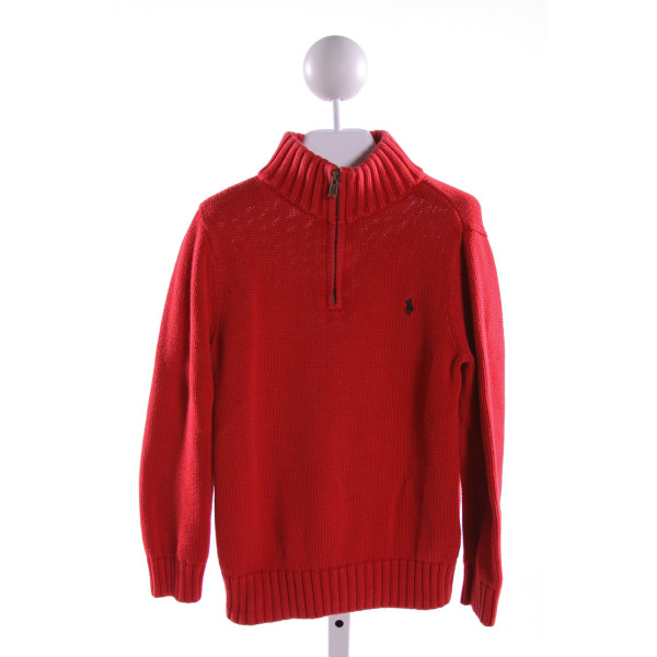 POLO BY RALPH LAUREN  RED    QUARTER ZIP PULLOVER