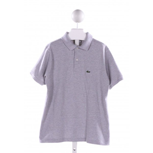 LACOSTE  GRAY    KNIT SS SHIRT