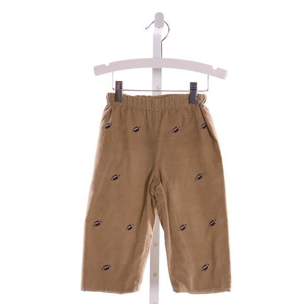 ZUCCINI  BROWN CORDUROY  EMBROIDERED PANTS