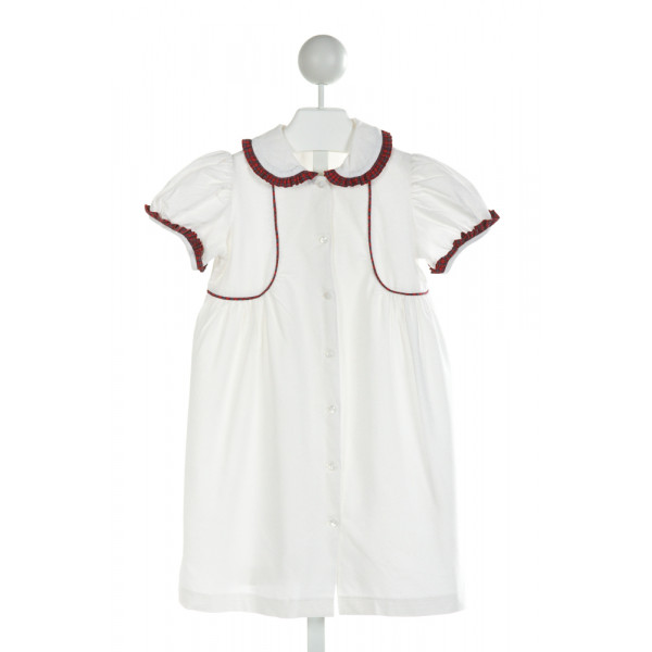 MARY & GRACE  IVORY CORDUROY   DRESS WITH RUFFLE