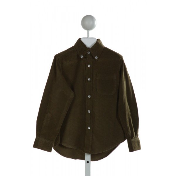 KATE & LIBBY  GREEN CORDUROY   CLOTH LS SHIRT