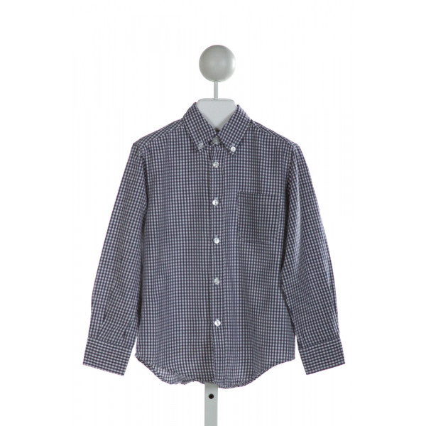 KATE & LIBBY  BLUE  GINGHAM  CLOTH LS SHIRT