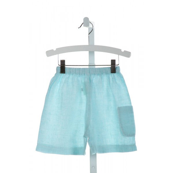 ALICE KATHLEEN  AQUA  GINGHAM  SHORTS