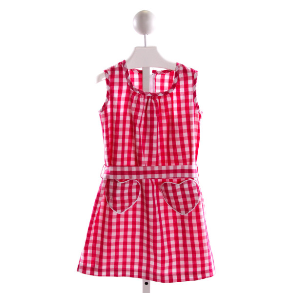 KAYCE HUGHES  HOT PINK  GINGHAM  DRESS