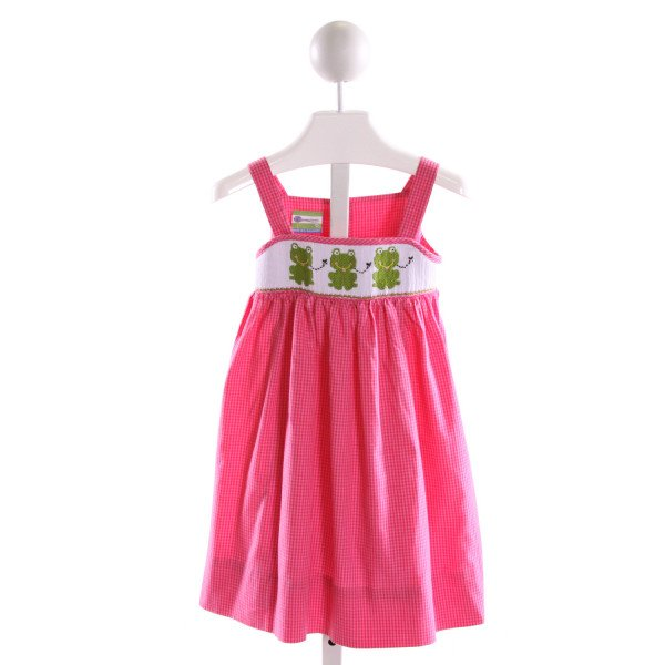 CANDYLAND  PINK  GINGHAM SMOCKED DRESS