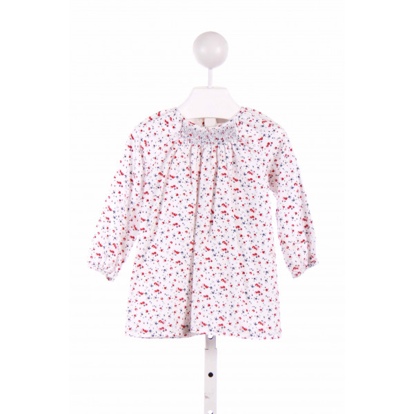 THE LITTLE WHITE COMPANY  WHITE  FLORAL  CASUAL DRESS