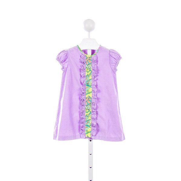 THE TRAVELIN TRUNK PURPLE AND GREEN CORDUROY DRESS